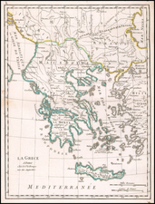 Greece Map By George Louis Le Rouge