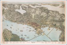 Washington Map By Augustus Koch