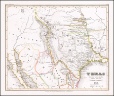 Texas, Plains, Oklahoma & Indian Territory, Southwest, Colorado, New Mexico and Colorado Map By Joseph Meyer