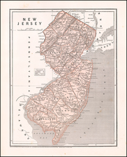 New Jersey Map By Sidney Morse  &  Samuel Breese