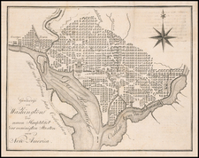 Washington, D.C. Map By Eberhard August Wilhelm von Zimmermann