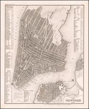 Plan von New-York 1844 By Joseph Meyer