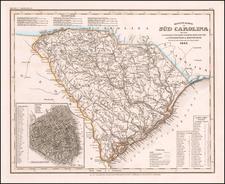 Neueste Karte von Sud Carolina . . . 1845 By Joseph Meyer  &  Carl Radefeld