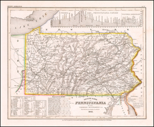 Pennsylvania Map By Joseph Meyer