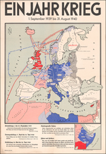 Europe and World War II Map By H. M. Hauschild