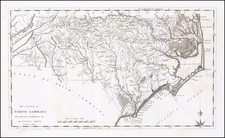 North Carolina Map By Matthew Carey