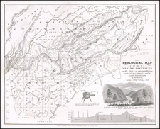 South, Tennessee, Southeast, Georgia and North Carolina Map By Jacob Peck