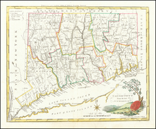 Connecticut Map By Mathew Carey