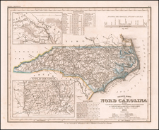 North Carolina Map By Joseph Meyer