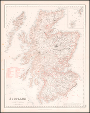 Scotland Map By Archibald Fullarton & Co.