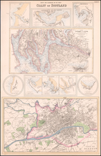 Scotland Map By Archibald Fullarton & Co.