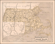 Massachusetts Map By Sidney Morse  &  Samuel Breese
