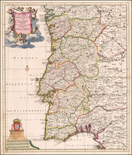 Portugal Map By Theodorus I Danckerts