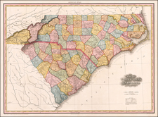 Southeast, North Carolina and South Carolina Map By Henry Schenk Tanner