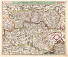 Austria Map By Cornelis II Danckerts