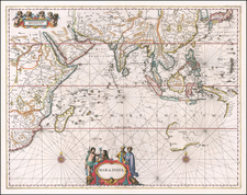 Indian Ocean, India, Southeast Asia, Philippines, Middle East, West Africa and Australia Map By Jan Jansson