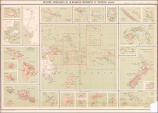 Hawaii, Other Islands, Australia & Oceania, Oceania, New Zealand, Hawaii and Other Pacific Islands Map By Journal Les Missions Catholiques