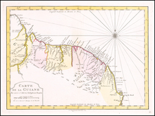 Guianas & Suriname Map By A. Krevelt