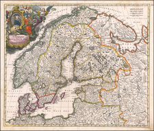 Scandinavia Map By Johann Baptist Homann