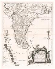 Penisola Dell India di qua dal Gange et Isole intorno ad essa adiacenti . . . 1683 By Giacomo Giovanni Rossi - Giacomo Cantelli da Vignola