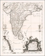 India Map By Giacomo Giovanni Rossi - Giacomo Cantelli da Vignola