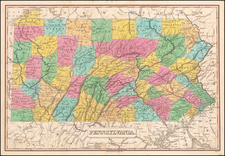 Pennsylvania Map By Anthony Finley