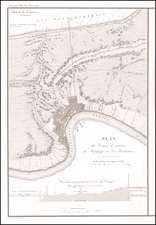 Louisiana and New Orleans Map By Guillaume-Tell Poussin