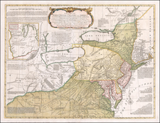 United States, Mid-Atlantic and Midwest Map By Lewis Evans / John Bowles