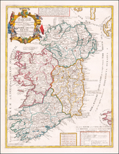 Ireland Map By Jean-Baptiste Nolin