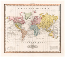 World Map By Henry Schenk Tanner