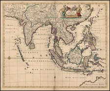 Asia, China, India, Southeast Asia, Australia & Oceania and Australia Map By Frederick De Wit