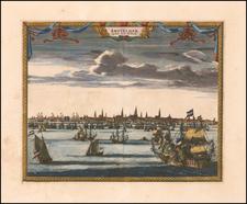 Netherlands and Amsterdam Map By Pieter van der Aa