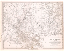 South, Louisiana, Alabama and Mississippi Map By SDUK