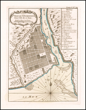 Hispaniola Map By Jacques Nicolas Bellin
