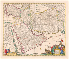 Middle East, Arabian Peninsula and Persia & Iraq Map By Christopher Browne