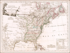United States Map By Charles Francois Delamarche