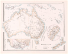 Australia and New Zealand Map By Archibald Fullarton & Co.