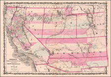 Arizona, Colorado, Utah, Nevada, New Mexico, Colorado, Utah and California Map By Benjamin P Ward  &  Alvin Jewett Johnson