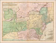 United States, New York State, Mid-Atlantic and Midwest Map By Carrington Bowles  &  Lewis Evans