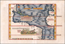 [The Admiral's Map]  Oceani occidetalis Seu Terre Noue Tabula Christophorus Columbus natione Italus, patria Genuensis   By Lorenz Fries