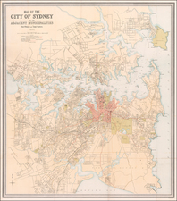 Australia Map By John Bartholomew
