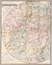 New York State Map By Seneca Ray Stoddard
