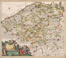 France Map By Theodorus I Danckerts