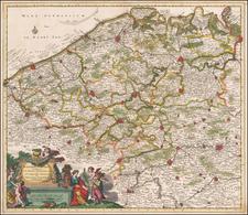 France Map By Theodorus I Danckerts