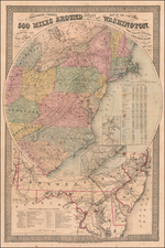Mid-Atlantic and Washington, D.C. Map By G.W. Colton