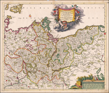 Poland and Germany Map By Theodorus I Danckerts