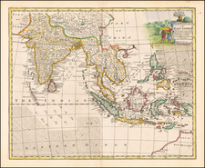 India, Southeast Asia, Philippines, Indonesia and Malaysia Map By Emanuel Bowen