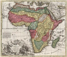 Africa and Africa Map By Johann Baptist Homann