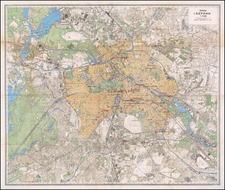 Russia and Germany Map By Soviet Office of Military Topographers
