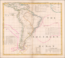 North America, South America and Pacific Map By Thomas Jefferys / Bradock Mead